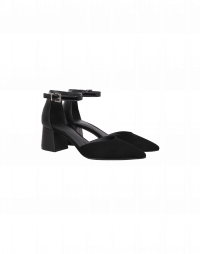 RISE-UP: Sandalo nero con tacco medio