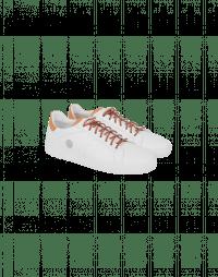 SKIP: White leather tennis shoe