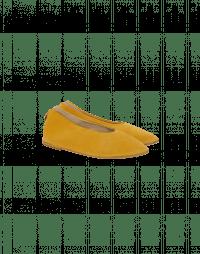 STEP OUT: Ballerine in camoscio giallo