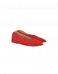 STEP OUT: Ballerine in camoscio rosso