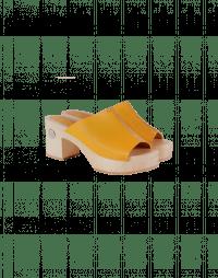 HIGHLIGHT: Zoccoli con tacco e fascia in pelle