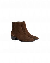 EN ROUTE: Chestnut brown suede Chelsea boot