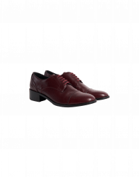 STEADFAST: Oxford shoes in burgundy leather