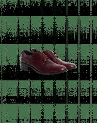 STEADFAST: Burgunderfarbiges Schnürmodell aus Leder