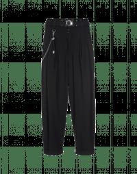 HASTEN: Pantaloni neri con pieghe