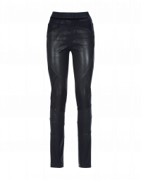 LAY-OUT: Navy blue multi-seam pants