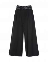 RAKU: Pantaloni ampi in twill nero