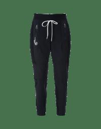 ENTRUST: Pantaloni sportivi in navy e gessato