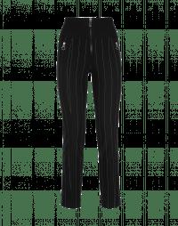 MINIMALIST: Pantaloni gessati neri a vita alta