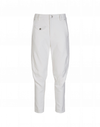 IN-MOTION: Pantaloni bianchi con cuciture diagonali