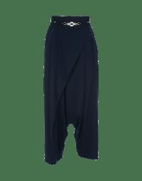 CONTRARY: Pantaloni avvolgenti blu marina