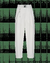 HASTEN: Pantaloni bianchi con pieghe frontali