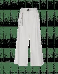 GIULIA: Pantaloni gessati bianchi