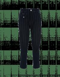 IN-MOTION: Pantaloni affusolati con pannelli gessati