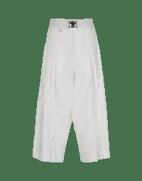 CREATIVE: Pantaloni bianchi in Sensitive® con cuciture curve