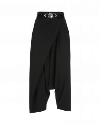 ENRAPTURE: Pantaloni neri dalla linea avvolgente con zip laterale