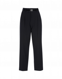 RATIONALE: Straight leg pant in soft navy tech