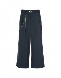GIULIA: Air force blue wide 3/4 leg pants