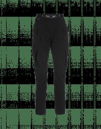 NEW LURCH: Pantaloni affusolati neri con pences