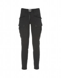 STASH: Black tech contemporary cargo pants