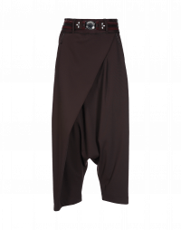 ENRAPTURE: Pantaloni avvolgenti con zip laterale