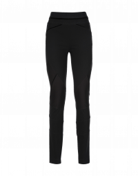 HI-LAY-OUT: Black multi-seam pants