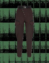 RIVALRY: Pantaloni con abbottonatura diagonale color borgogna