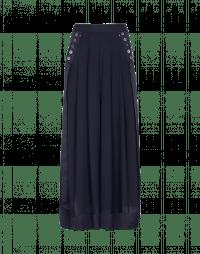 ASSURE: Pantaloni ampi blu navy con nastri laterali