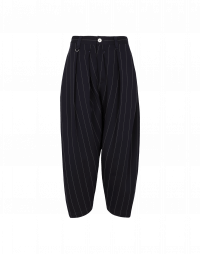 PAIR UP: Pantaloni gessati dalla linea curva