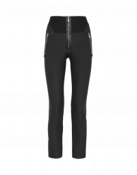 MINIMALIST: Black pant with satin ribbon trim