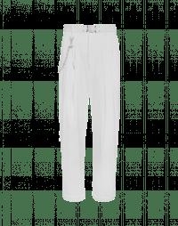HASTEN: Pantalone fluido in twill tecnico avorio