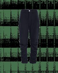 PULSATE: Pantaloni blu navy con pieghe multiple
