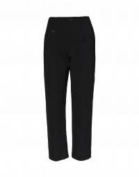 HYPER: Flat front pant in black stretch twill