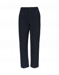 HYPER: Flat front pant in navy stretch twill