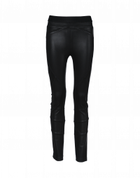 HI-LAY-OUT: Black multi-seam, multi-panel pants