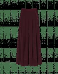 ASSURE: Pantaloni ampi con pieghe color borgogna