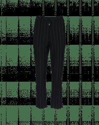 STARK: Slim flat front pinstripe pants