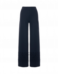 GRAVITATE: Pantaloni ampi con motivo floreale a contrasto