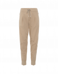 EAGER: Jogger pants in taupe technical twill