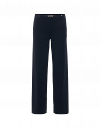 PROCEED: Straight leg pants in navy tech jersey