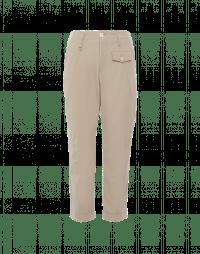 HYPER: Pantaloni in twill tecnico beige con taschino
