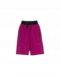 UNDERSTAND: Shorts in crêpe tecnico color ciclamino