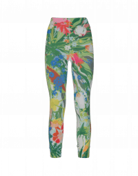 HALT: Leggings in Sensitive® con motivo floreale multicolore
