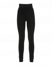 JEEPERS: Black leggings with flocked ankle cuff