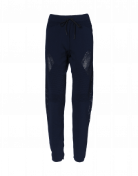 HURTLE: Navy joggers with mesh and ribbed panels
