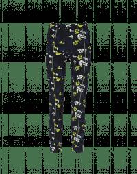 SPEEDY: Leggings con stampa floreale e riga verde