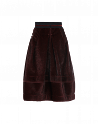 DUET: Eco fur full skirt