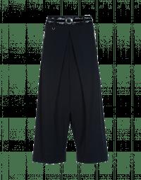 DITHER: Pantaloni culottes in Sensitive® blu navy