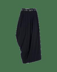 SWATHE: Pinstripe jersey wrap skirt