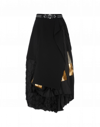GRACIOUS: Plain, pleated and crushed fabric skirt